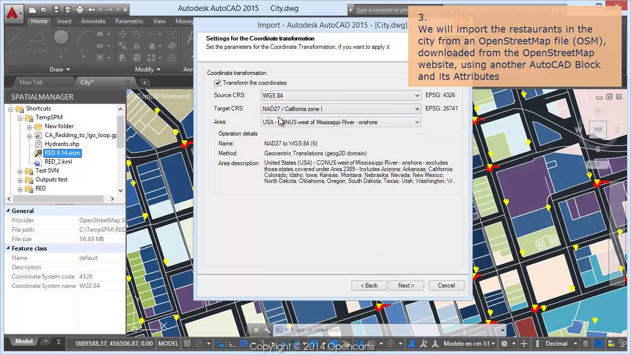 Import points into AutoCAD - Spatial Manager