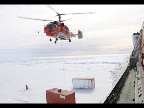 China's Antarctic Research Expedition Team Unloads Supplies From Icebreaker Xuelong