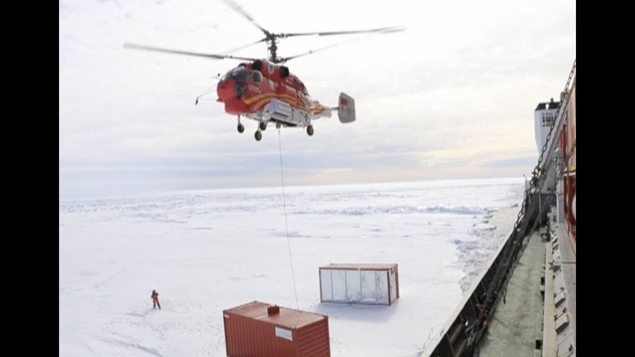 705fabd32dc China's Antarctic Research Expedition Team Unloads Supplies From Icebreaker  Xuelong