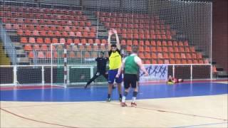 Analyse du tir en suspension à 9m de l'arrière  au Handball