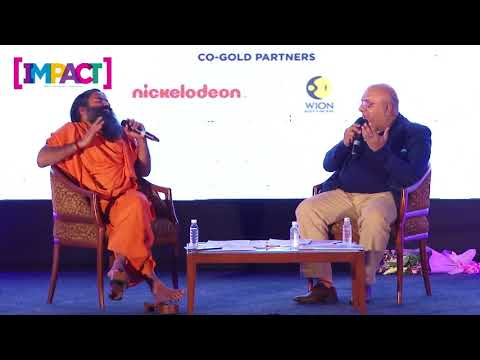 Annurag Batra in conversation with Baba Ramdev at IMPACT Person of the Year 2017