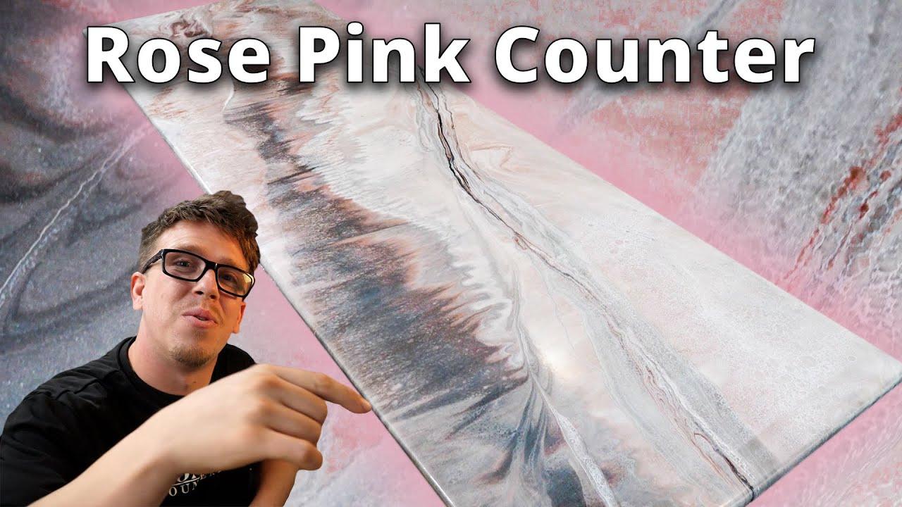 Rose Pink Marble Epoxy Recipe   Stone Coat Epoxy