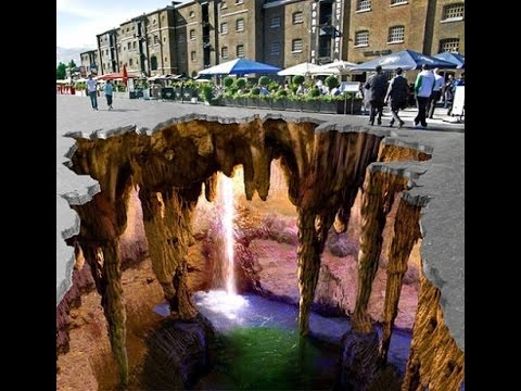 3d street art, they did detailed parts for a gorgeous 3D painting