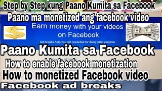 Facebook Monetization|Facebook Ad-Breaks|How to Monetized Facebook Video|Paano Kumita sa Facebook-