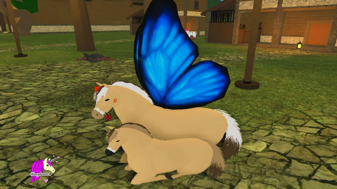Honeyheartsc Roblox Videos My New Family Roblox Horse World Online Game Play Video Youtube