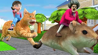 Scary Teacher 3D - Nick and Tani - Troll Miss T - Giant and tiny Full episode |VMAni Funny|