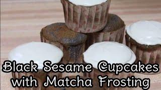 Black Sesame (kurogoma) Cupcakes With Matcha Frosting