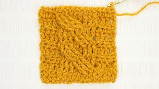 Arabel Cable Crochet Stitch Tutorial