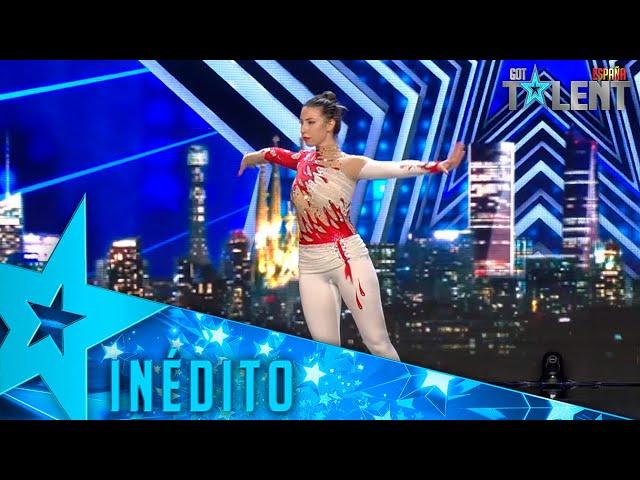 Esta ACRÓBATA supera un inesperado error en su actuación  | Inéditos | Got Talent España 2021