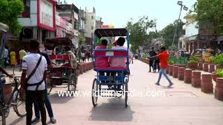 Chandni Chowk redevelopment with pedestrian tracks and vehicle-free market zone