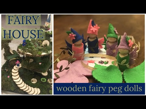 Waldorf Inspired || FAIRY HOUSE || DIY || how to || wooden peg doll fairy kit || gnomes || craft