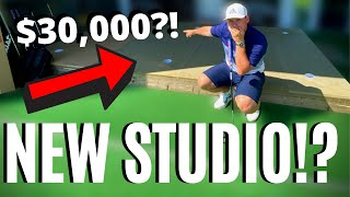 WE BUILT AN INSANE NEW INDOOR GOLF STUDIO AND SAVED $30,000!!!