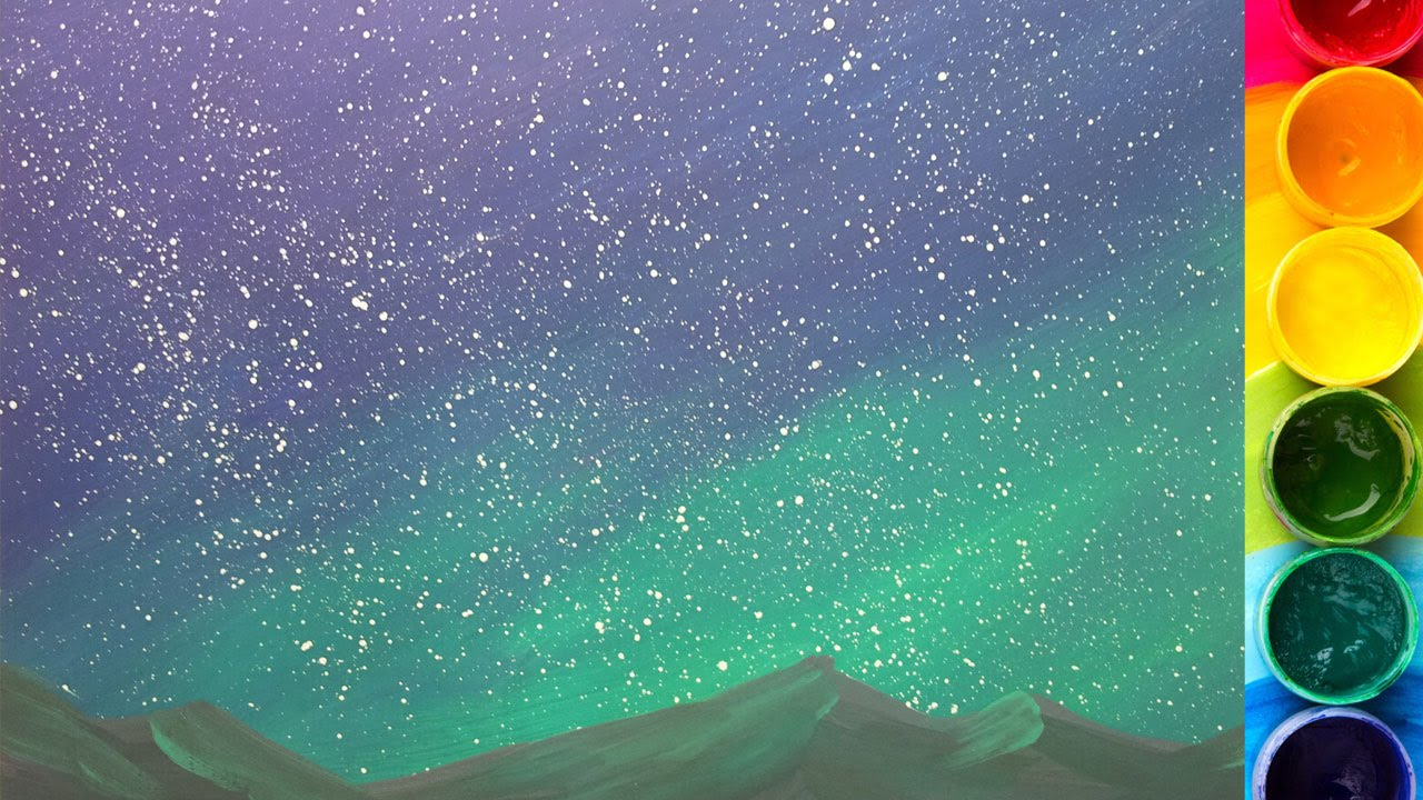 Рисовать по звёздному небу
