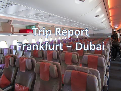 Trip Report Frankfurt (FRA) to Dubai (DXB) on Board Emirates