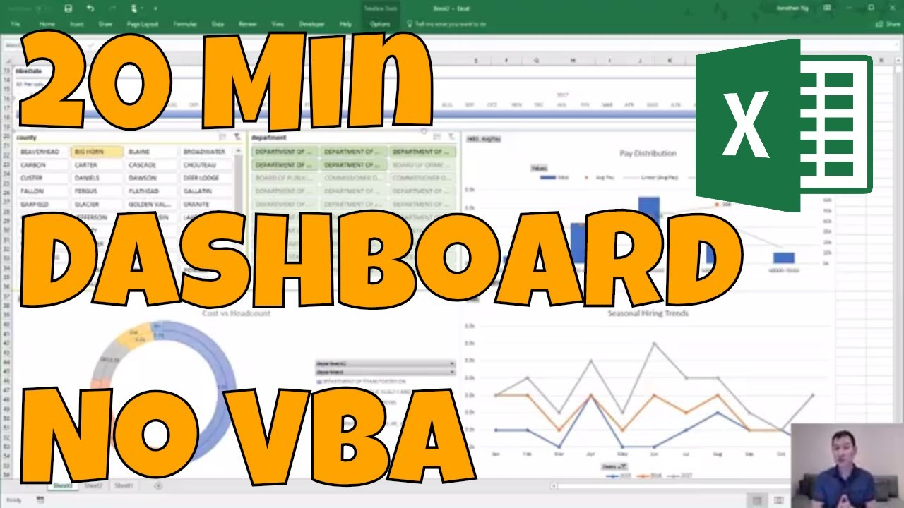Easy Excel Dashboard with Power Query no VBA or Formulas