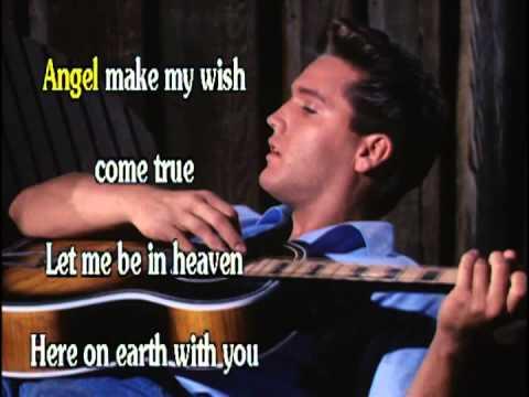 ANGEL  LYRICS - ELVIS PRESLEY