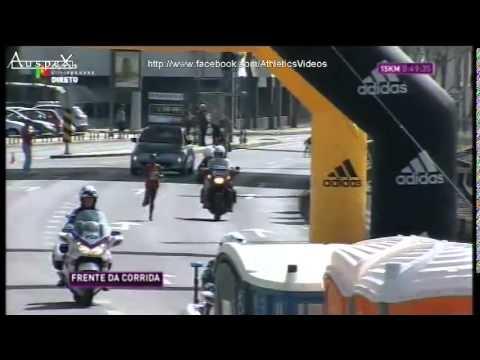 2015 Lisbon half marathon's full race, Mo Farah set a new AR