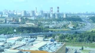 Смотреть видео SK Royal Hotel Moscow view panorama МОСКВА HD 1080 онлайн