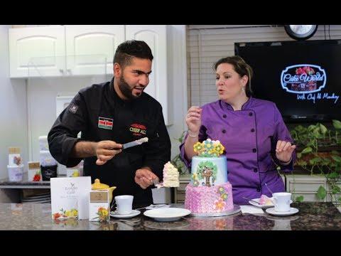 Cake World Tv Episode 8 | How To Make Buttercream Cake | Chef Ali Mandhry | Sabrina Ricks Avery