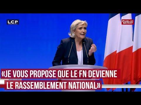 """Marine Le Pen : """"Je vous propose que le FN devienne le Rassemblement National"""""""