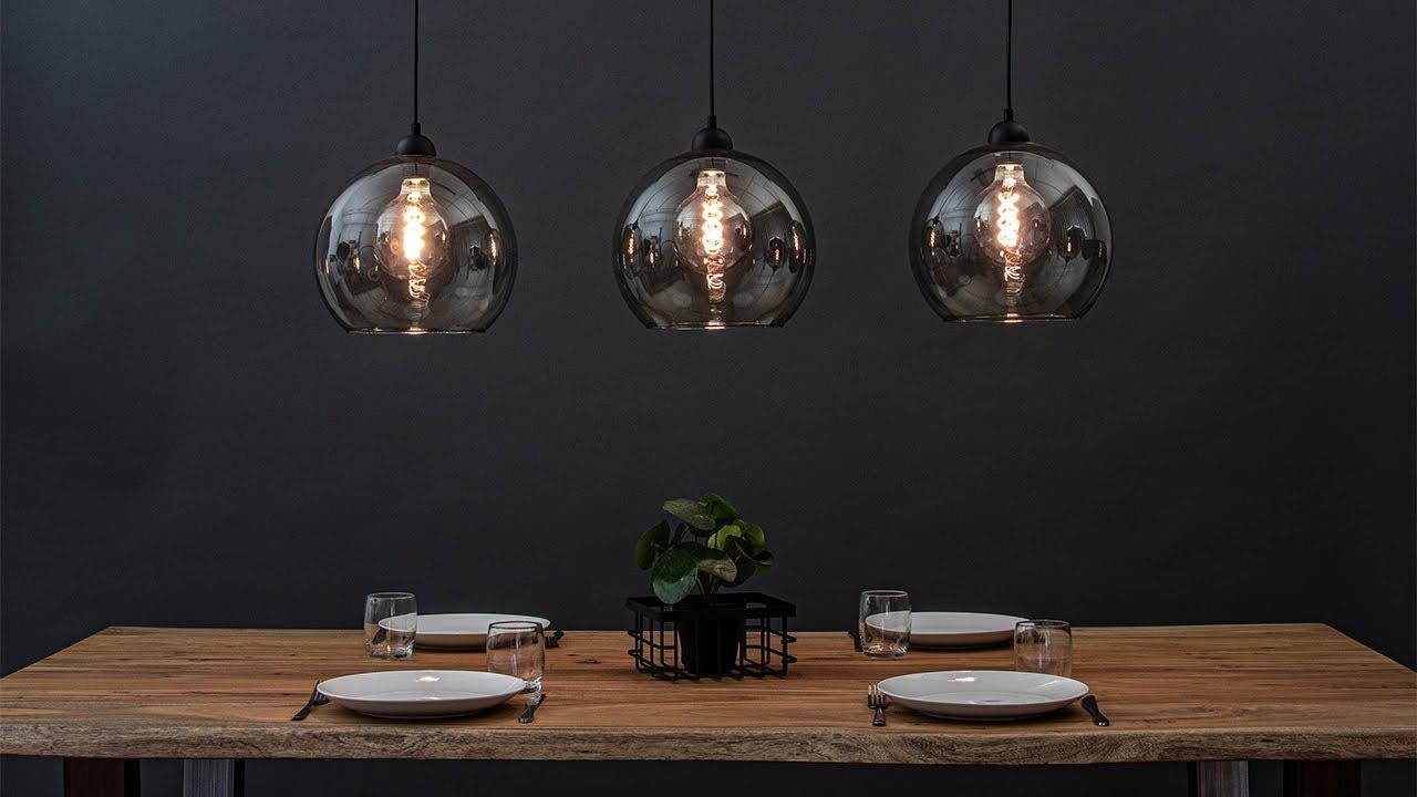 Spiksplinternieuw Trendy eettafel hanglamp met smoke glas   Straluma 20100128 - YouTube SL-31