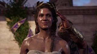 Assassin's Creed Odyssey - Pankration: Leander Annoucement: Kassandra Oiled Up! Wins Cutscene (2018)