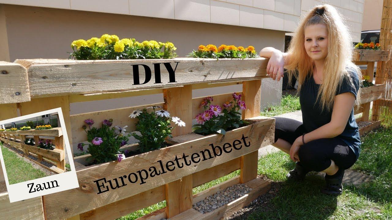 DIY Beet & Zaun aus Europaletten | so geht´s | Blumenbeet für den ...