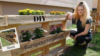 DIY Beet & Zaun aus Europaletten | so geht´s | Blumenbeet für den Garten |  Katherina Kathi