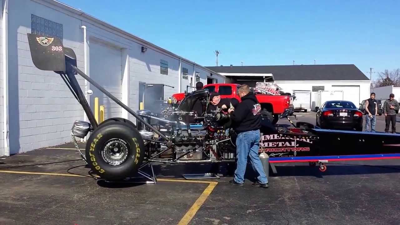 Top Fuel Dragster Start Up