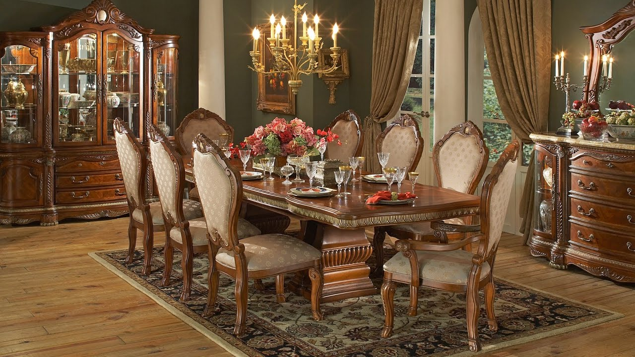 Formal Dining Room Sets with China Cabinet - YouTube