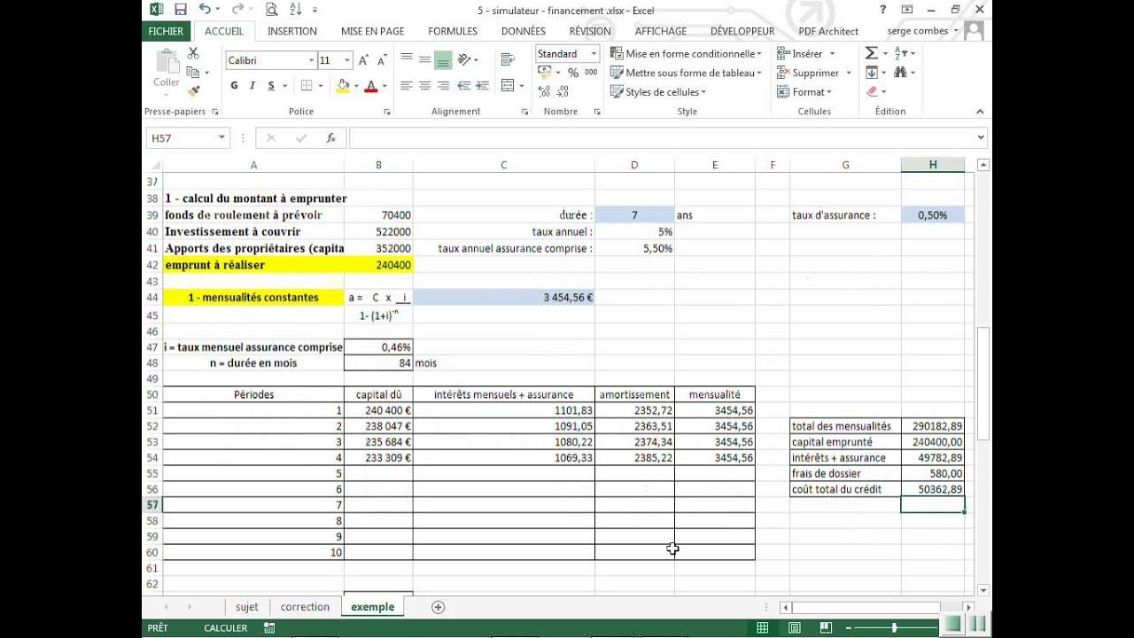 simulateur finacement emprunts with emprunt simulateur
