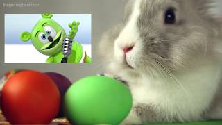 The EASTER BUNNY REACTS To The Gummy Bear Song!