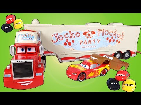 Disney Cars 3 Lightning Mcqueen and Party Supplies Mack and all Tsum Tsum collection