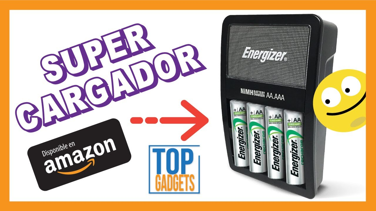 6e6b9464c Cargador con Pilas Recargables Energizer en Amazon - YouTube