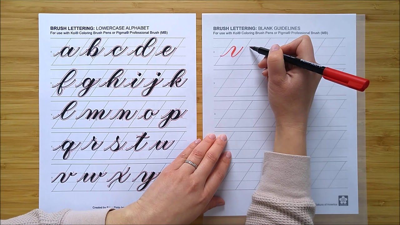 How to Brush Letter with Erica Pinto - Lowercase Alphabet part 1