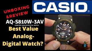 Casio Tough Solar (AQS810W) Analog/Digital Watch-Best Value Watch Ever? (Unboxing & Overview)