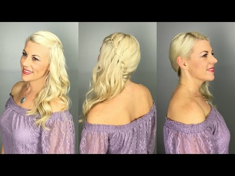 Side Swept Waterfall Braid Tutorial
