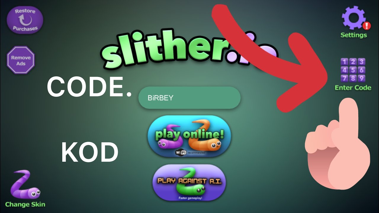 Slither Io Enter Codes
