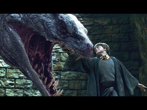 Гарри убивает Василиска и уничтожает Тома Рэддла. \