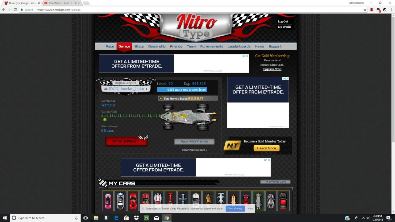free hacked nitro type account