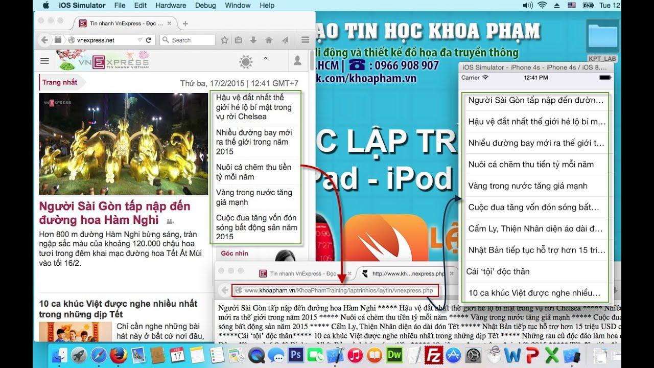 Bài 38/40 – Viết ứng dụng đọc tin tức tự động từ trang VnExpress.net – KhoaPham.Vn
