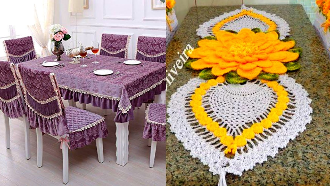 Stylish Dining Table Clothes And Chair Covers Design Ideas 2020 Crochet Dining Table Runners Youtube