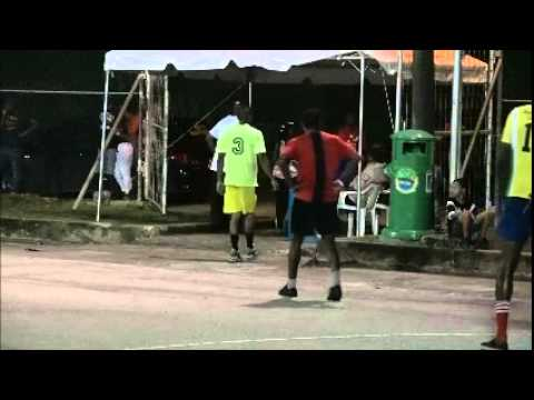"""YES YOUTH CAN,"" PNM East - vs - PNM West Youths in soccer @ Pleasantville. July 25, '15 -Trinidad"