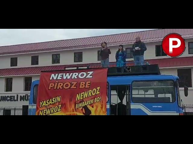 Dersim'de valiliğin yasağına rağmen coşkulu Newroz kutlaması