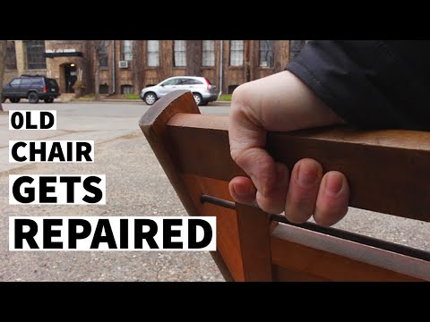 Thrift Store Rescue #16  | Repairing A Vintage Folding Chair | Furniture Repair And Restoration