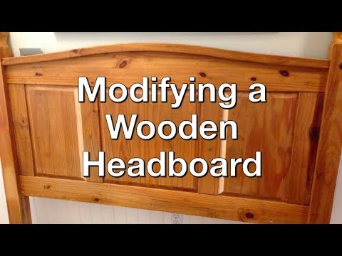 Rebuild Headboard from King Size to Queen Size - Woodworking