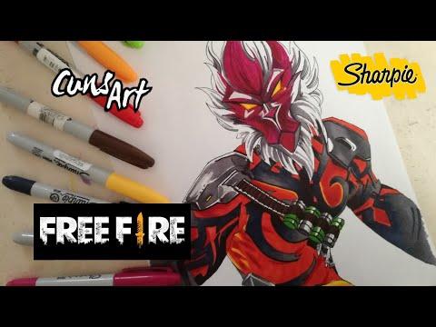 Como Dibujar A Wukong Freefire Sharpie Challenge How To Draw