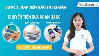 Các cách nạp tiền trên trang Tuyensinh247.com - Học trực tuyến online
