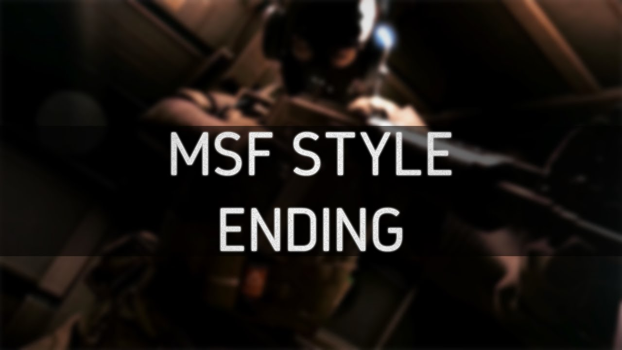 Msf Soldier Style Ending Mgsv Ground Zeroes Youtube