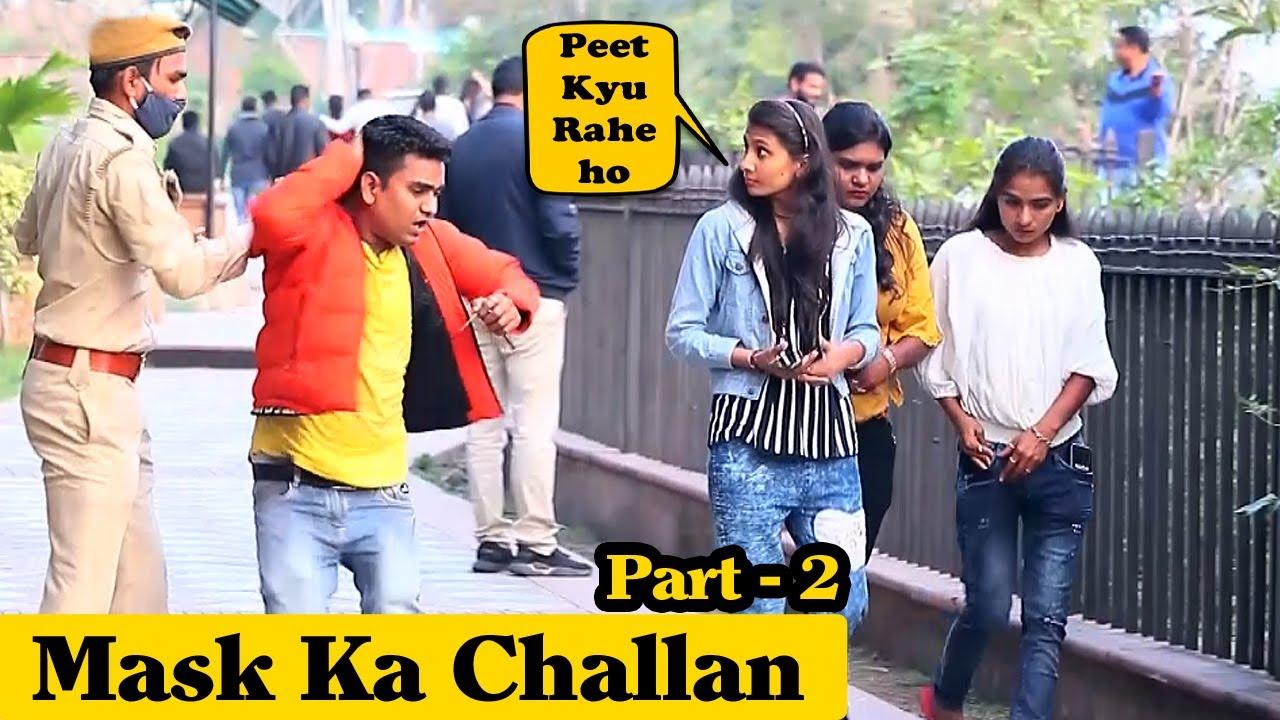 Mask Ka Challan Part 2 | Prank Rush | Pranks in India